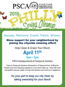 PSCA Spring Clean up!_3.262015