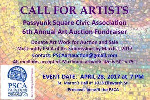 PSCA call for artists